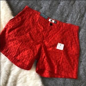 "NWT Old navy orange eyelet chino short 5"" sz.4"